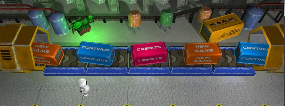 Game menu with Wobo